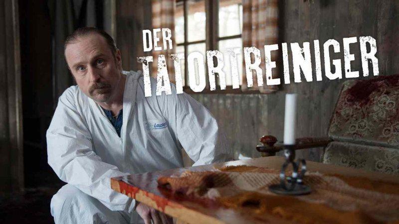 Image from German tv show called Der Tatortreiniger