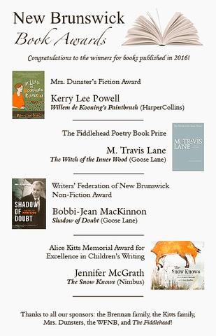 New Brunswick Book Awards Winners