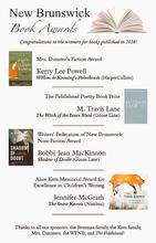 New Brunswick Book Awards Winners